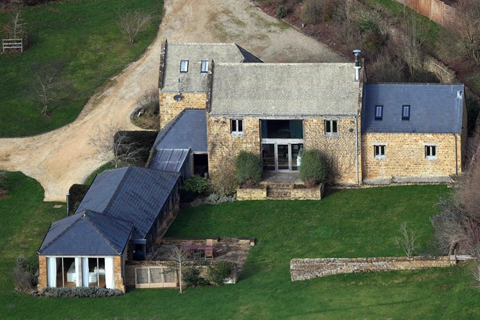 Welcome to the Cotswolds: Aerial views of the stunning country home of the Duke and Duchess of Sussex. *(Source: Exclusive /Media Mode)*