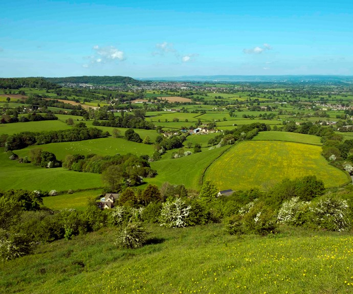 A view of the lush and peaceful Cotswolds - it's no wonder Harry and Meghan love it here. *(Source: Getty)*