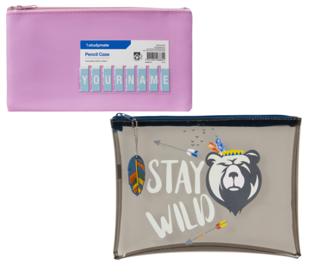"Hands up who remembers cutting out the letters to make your name? These guys are still around and cute as ever Studymate Name Pencil Case Small Light Pink, or for a more modern twist, this guy is pretty cute too Studymate PVC Pencil Case Safari. ***Image: [Officeworks](https://www.officeworks.com.au|target=""_blank""