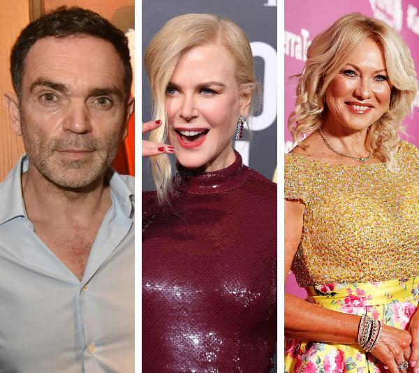 Yann Moix, Nicole Kidman and Kerri-Anne Kennerley. *(Image: Getty)*