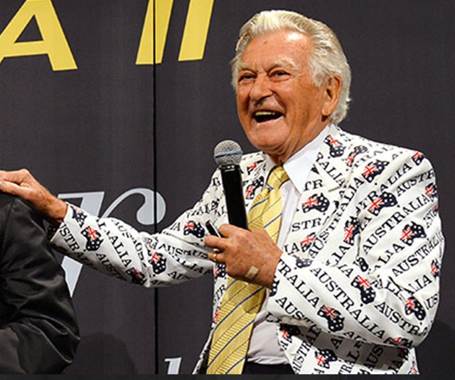 Bob Hawke was as comfortable sculling a beer or telling a rude joke as he was debating policy and meeting foreign dignitaries. *(Image: Getty Images)*