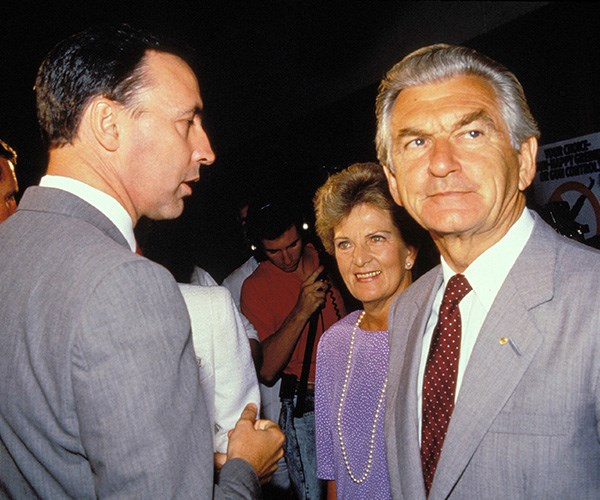 Bob Hawke and Paul Keating's feuding continued until Hawke's passing. *(Image: Getty Images)*