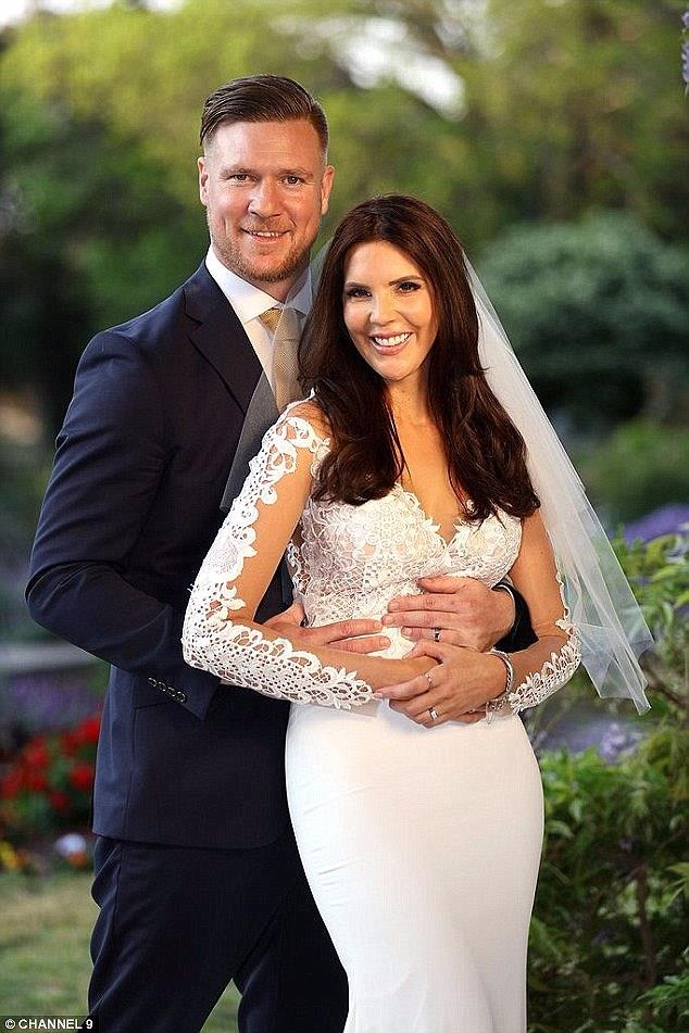 Dean Wells and Tracey Jewell on Season 5's Married At First Sight. *(Source: Channel 9)