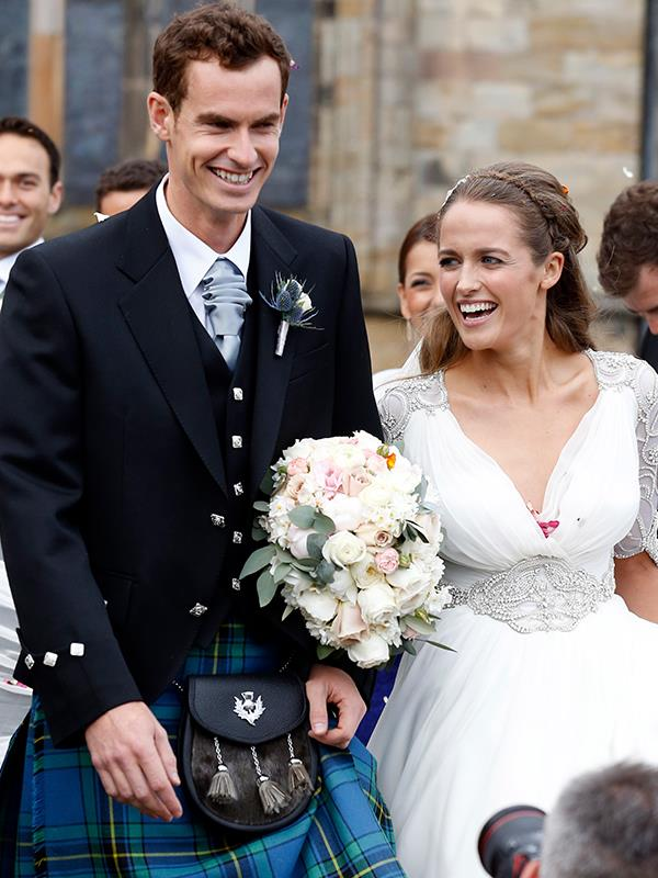 Andy and Kim tied the knot in a big Scottish shindig in 2015. *(Image: Getty Images)*