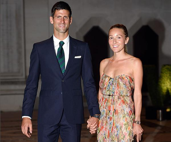 High school sweethearts Novak and Jelena are still so in love. *(Image: Getty Images)*