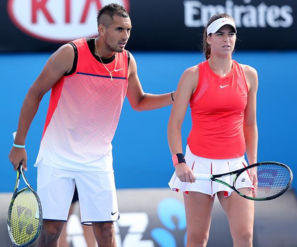A tennis power couple if ever we saw one! Nick Kyrgios and Ajla Tomljanovic often play and train together. *(Image: Getty Images)*