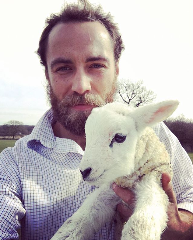We're not sure which one is furrier - James or the lamb. *(Image: Instagram /  @jmidy)*
