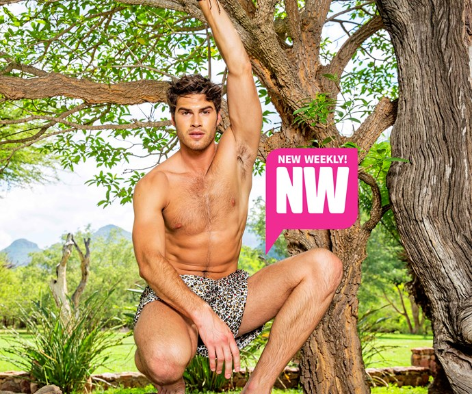 Justin Lacko has swapped speedos for khaki! *(Source: NW)*
