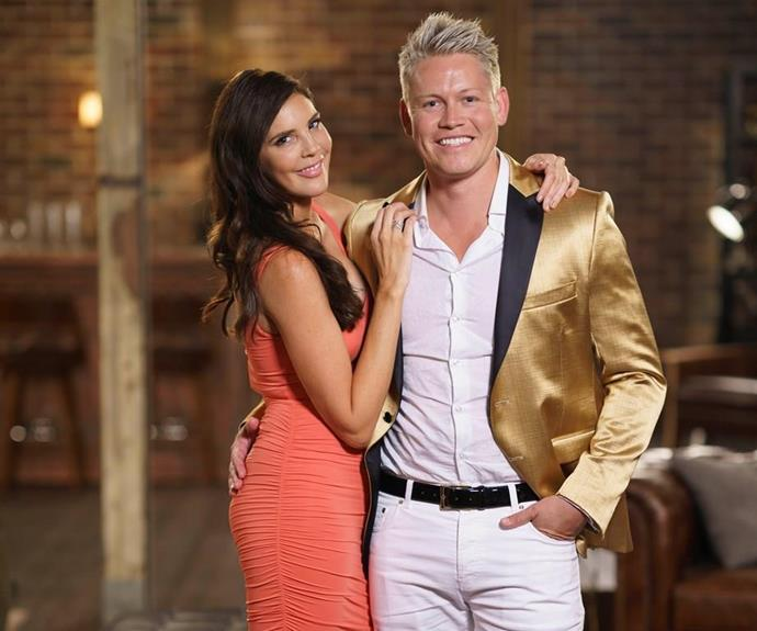 Tracey and Sean debuted their new romance at the Married at First Sight reunion episode. *(Source: Channel 9)*