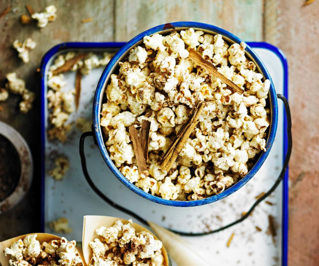"""***Chai-spiced popcorn:*** Your kids will love this mouthwatering chai-spiced popcorn! *Find the recipe [HERE.](https://www.womensweeklyfood.com.au/recipes/chai-spiced-popcorn-29587