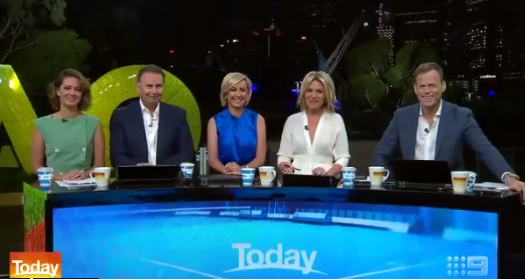 The brand new *Today Show* team made their debut together as the show kicked off for 2019. *(Image: Nine)*