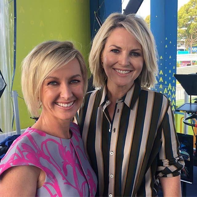 Deb shared a picture of herslef and Georgie attending the Australian Open in Melbourne over the weekend. *(Image: Instagram / @deborah_knight)*