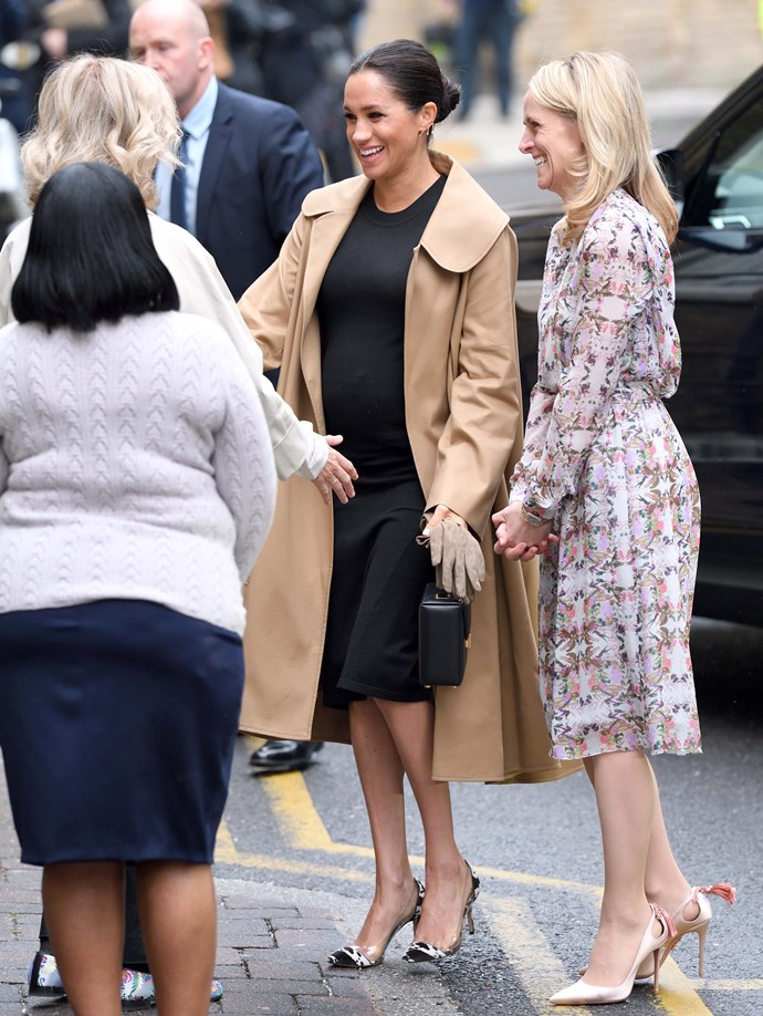 Duchess Meghan Markle meeting the women of SmartWorks in January. *(Source: Getty Images)*