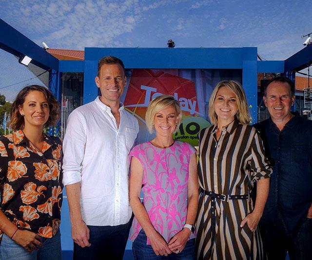 The old 2019 Today Show team: (L-R) Brooke Boney, Tom Steinfort, Deb Knight, Georgie Gardner and Tony Jones.
