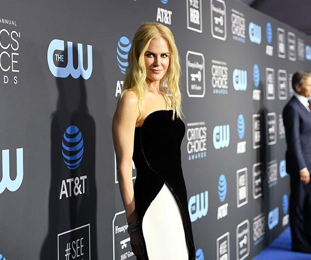 Nicole's striking monochrome look gets a 10/10 from us. *(Image: Getty)*