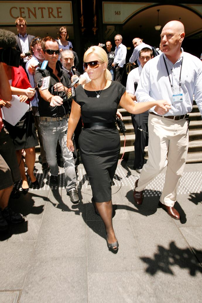 Ajay Rochester outside Downing Centre Court in Sydney. *(Image: Getty)*