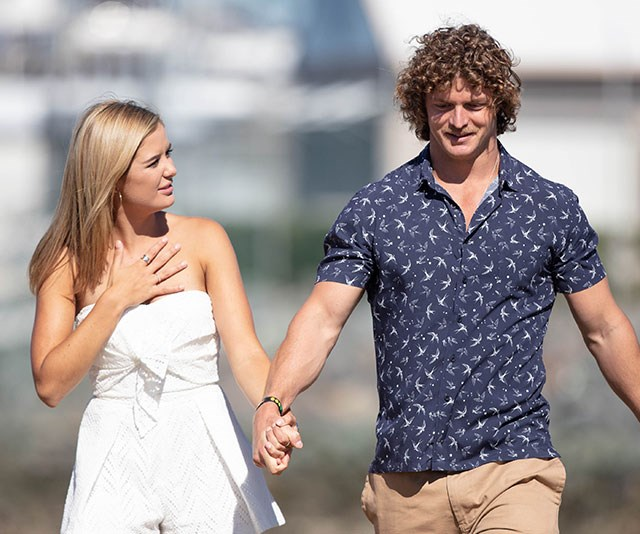 Rugby union player Nick Cummins was our first celebrity *Bachelor* and we all know how that ended... *(Image: Network Ten)*