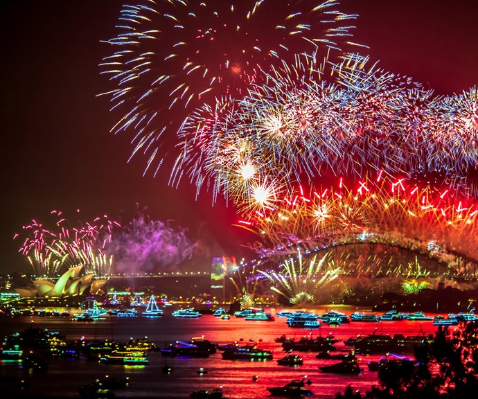 **Sydney** <br><br> The stunning fireworks will kick off from 9pm for 15-minutes over beautiful Sydney Harbour. The best vantage points are anywhere by the water, including First Fleet Park, Hickson Road Reserve, Circular Quay East, the Overseas Passenger Terminal and Sydney Opera House.