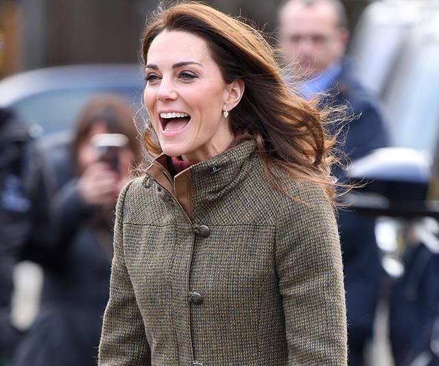 The Duchess looked calm and at ease as she joked with guests at the event. *(Image: Getty)*