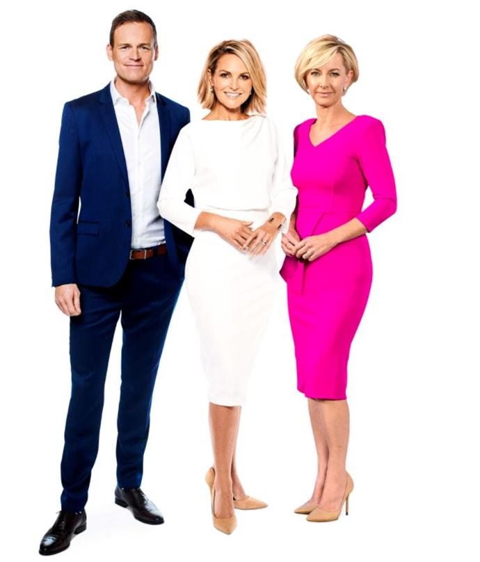 Tom Steinfort, Georgie Gardner and Deb Knight. *(Image: Channel Nine)*