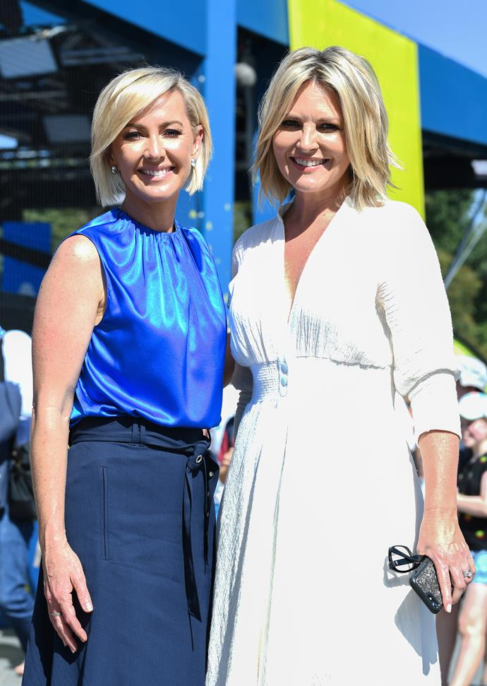 Deb Knight and Georgie Gardner at the Australian Open in Melbourne this week. *(Image: Getty)*