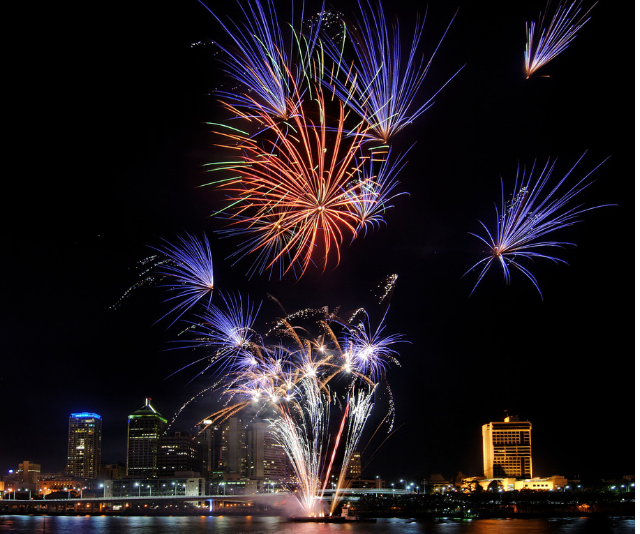 The family-firework show at Southbank is not to be missed. *Image: Getty Images.*