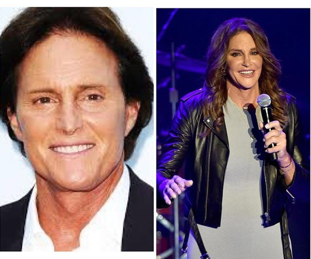 """""""Now THAT is a #10YearChallenge Be authentic to yourself 💜"""" Caitlyn Jenner, born Bruce Jenner, has arguably had the biggest transformation of all. *(Image: Instagram @caitlynjenner)*"""