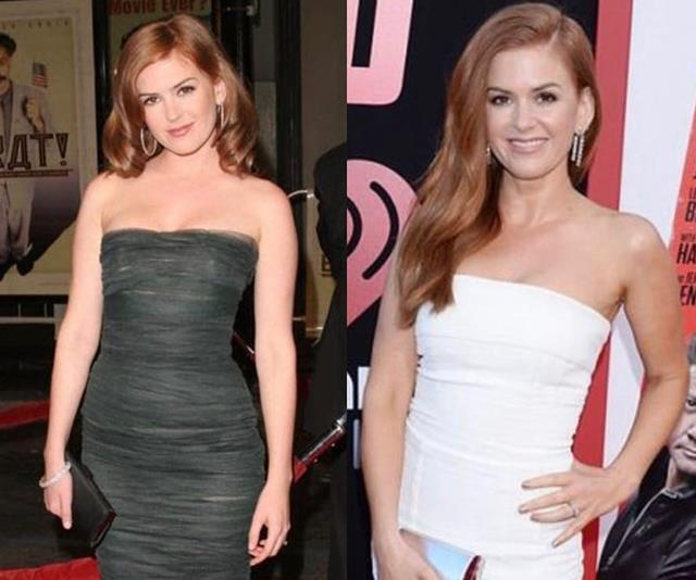 "We reckon Isla Fisher looks the same as she did in 2009 but according to her, she was ""stretchmark/spanx/diaper free a decade ago."" *(Image: Instagram @islafisher)*"