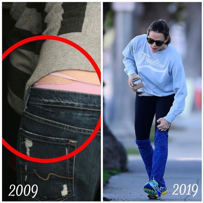 """Too real! Even [Jennifer Garner](https://www.nowtolove.com.au/celebrity/celeb-news/jennifer-garner-ben-affleck-kids-50764 target=""""_blank"""") had wardrobe malfunctions back in the day. *(Image: Instagram @jennifer.garner)*"""