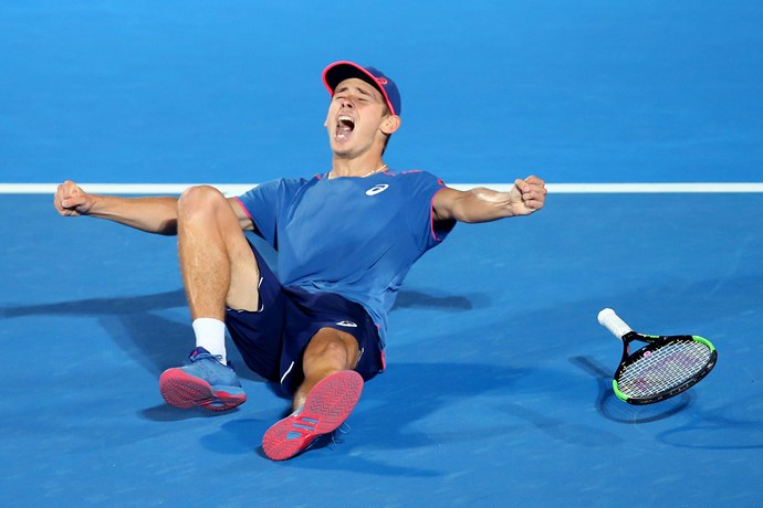 The usually contained player let out his frustration at the Sydney International. *(Image: Getty)*