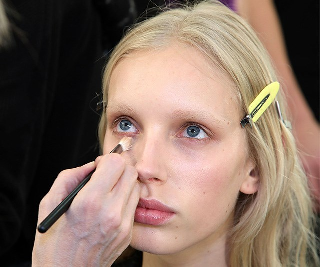 The new trend has been a backstage staple in fashion shows for years. *(Image: Getty)*