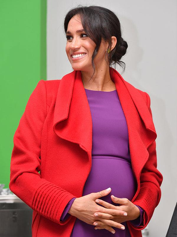 On the home stretch: Duchess Meghan is six months into her pregnancy and making plans for her birth. *(Image: Getty)*