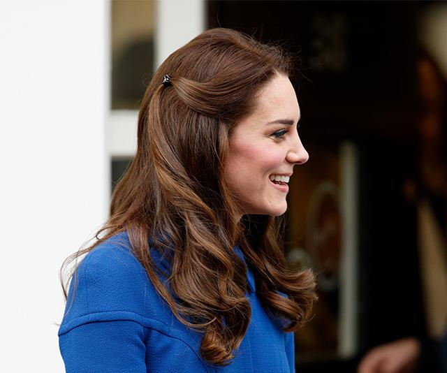 Even Kate Middleton has given the style her own twist, using a plastic claw clip on her tresses. *(Image: Getty)*