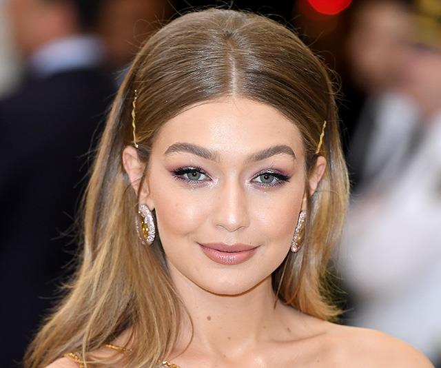 Gigi Hadid's Met Gala look last year was the stuff of hair clip dreams. *(Image: Getty)*