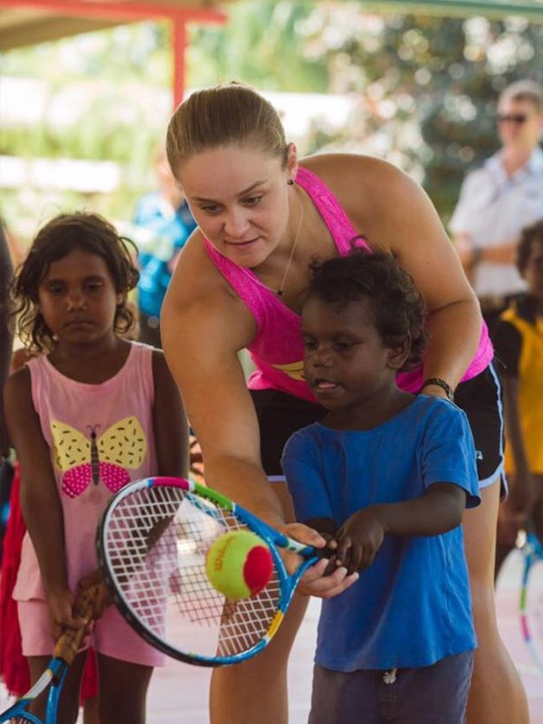 Ash is the National Indigenous Tennis Ambassador for Tennis Australia. *(Image: Instagram @ashbar96)*