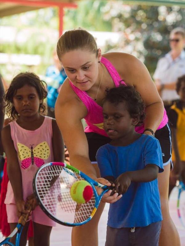 Ash is the National Indigenous Tennis Ambassador for Tennis Australia. *(Image: Instagram @ashbar96)*