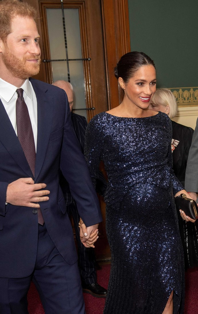Prince Harry and Meghan Markle stepped out at the Royal Albert Hall on Wednesday, January 16th to watch Cirque de Soleil. *(Source: Getty)*