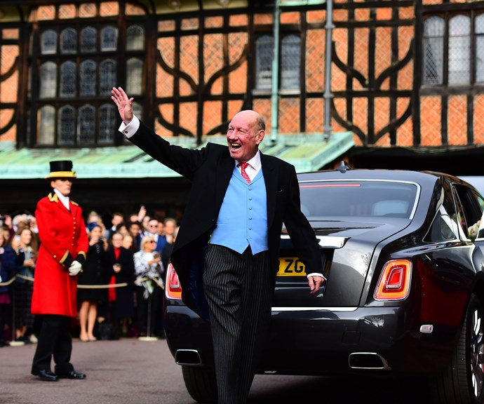 George Brooksbank arrives at Jack and Princess Eugenie's wedding in October 2018. *(Source: Getty)*