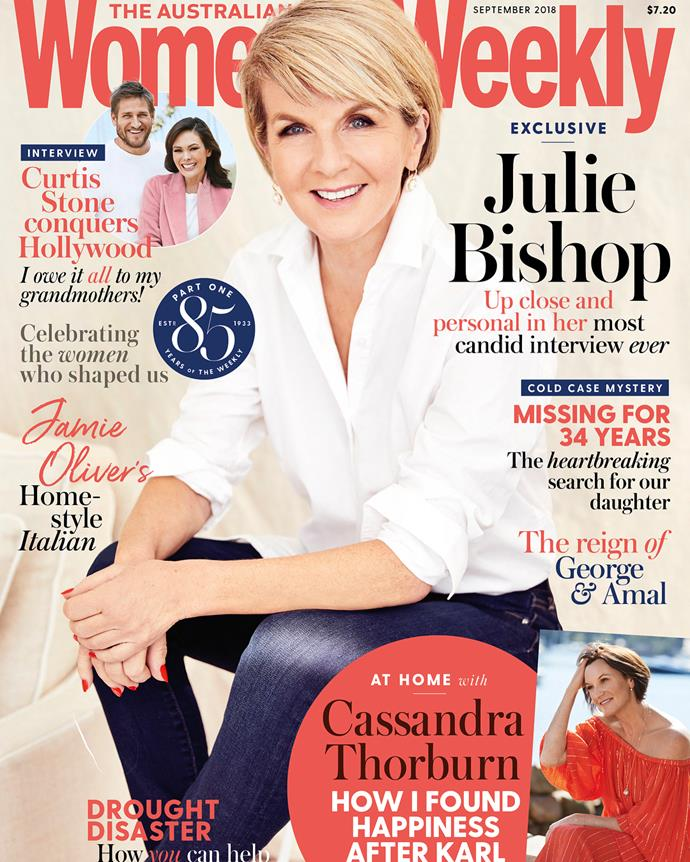 The September 2018 cover of *The Australian Women's Weekly* - the same issue that the article appeared in. *(Image: AWW)*