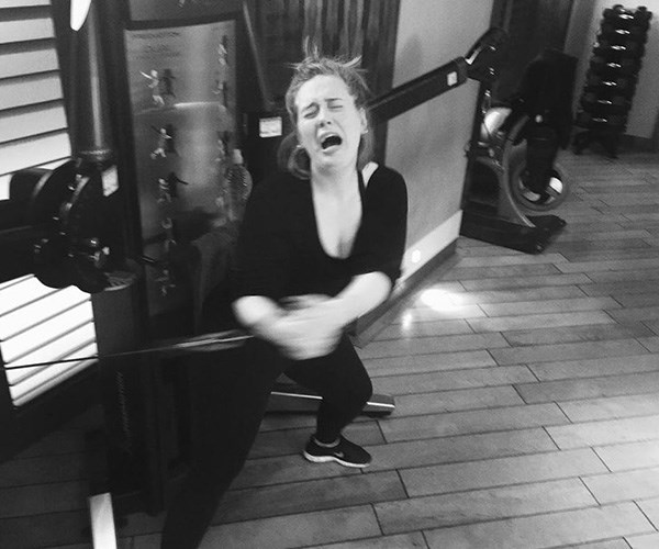 Don't go too hard with your workouts! *(Image: Instagram @adele)*