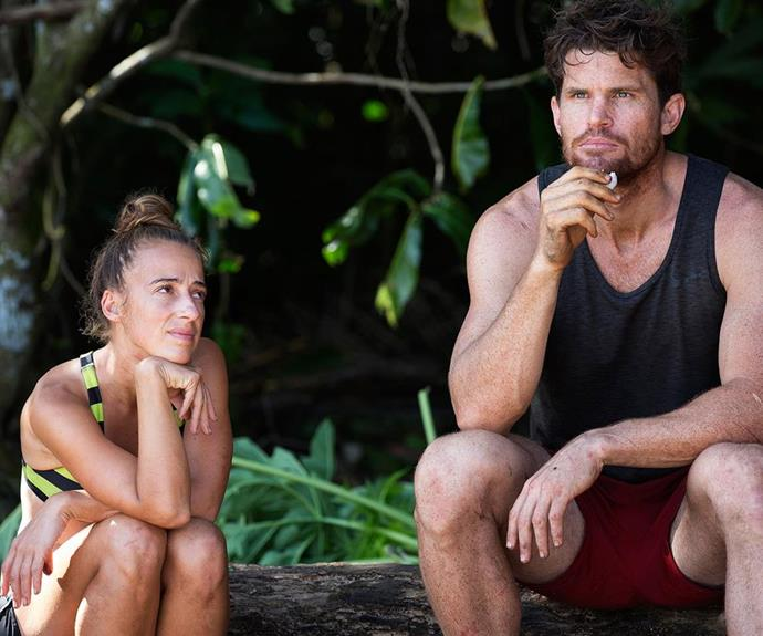 Samantha and Mark on *Australian Survivor.*