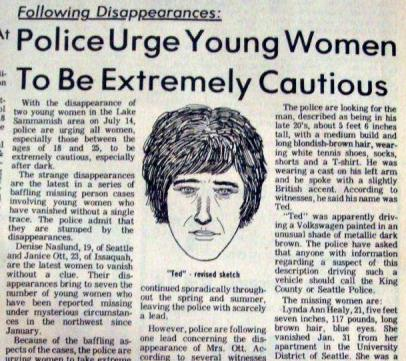 """""""Police urge young women to be extremely cautious..."""" the newspaper read."""