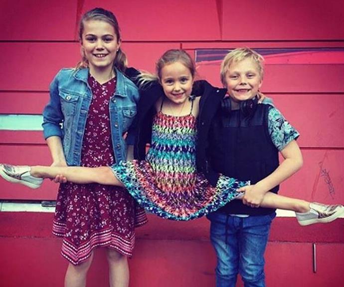 Bec and Lleyton's three children -  Mia, 13, Cruz, 10, and Ava, eight. *(Source: Instagram)*