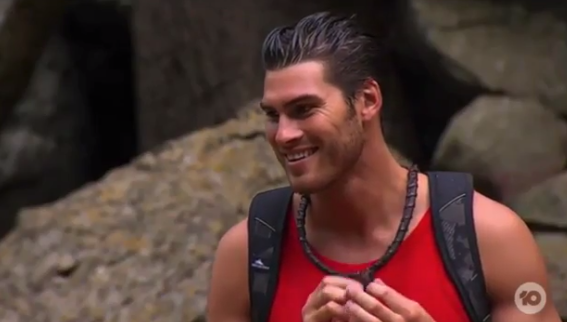 Justin Lacko has made a *very* impressionable debut in the jungle. *(Image: Network Ten)*