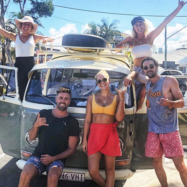 Liv was recently pictured having fun with friends, including ex *Bachelorette* star Luke McLeod. *(Image: Instagram / @luke.mcleod)*