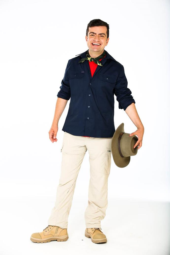 Sam is tackling the jungle elements head first on *I'm A Celebrity* this year. *(Image: Network Ten)*