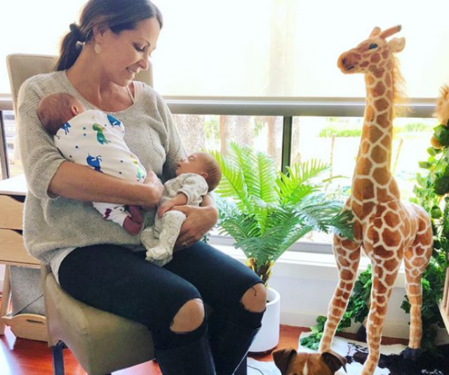 Albie and Kenzie are sure to be adventurers if their safari-themed nursery is any kind of inspiration. Check out that giant giraffe! *Image: Instagram/TaniaZaetta.*