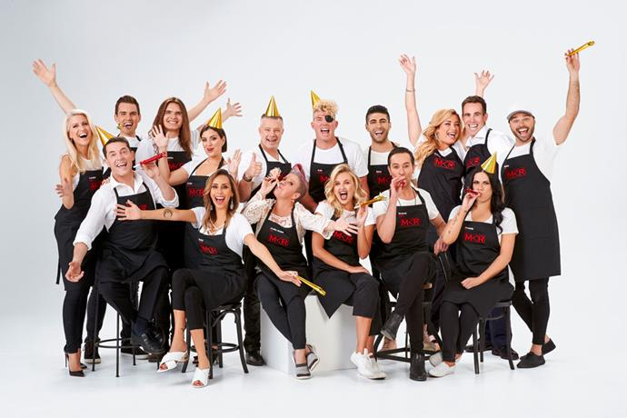 Group One competing in *My Kitchen Rules* 2019.