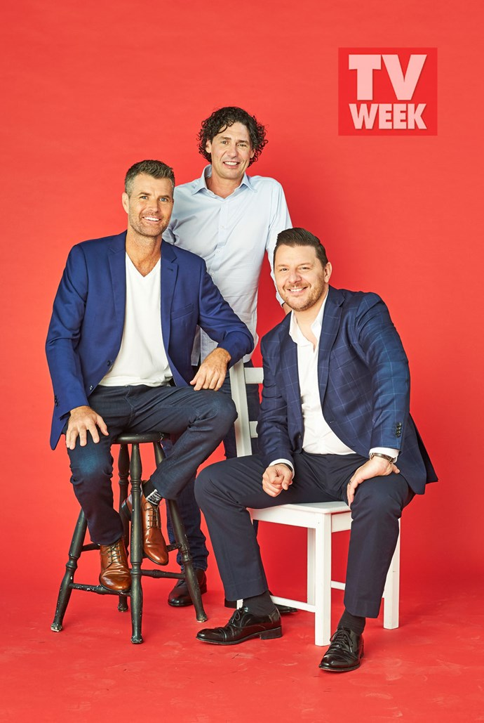 *My Kitchen Rules* judges Pete Evans, Manu Feildel and Colin Fassnidge.