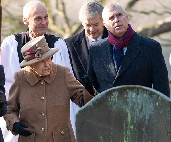 The Queen attended Sunday church service with her son, Prince Andrew, just days after Prince Philip's car accident. *(Image: Getty Images)*